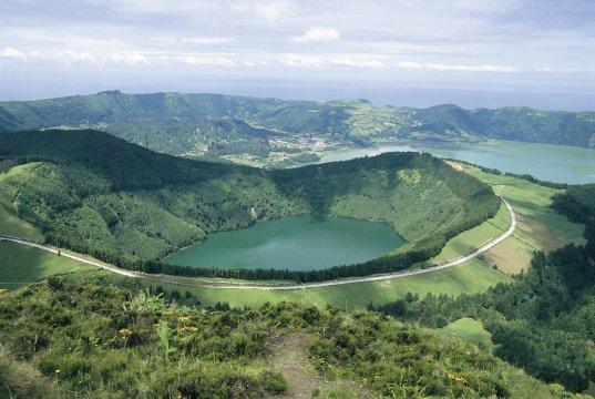 Azoren: San Miguel: Caldeira das Sete Cidades
