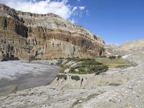 Der Fluss Kali Gandaki und Kagbeni