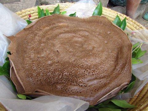 Fladenbrot aus Äthiopien - Injera