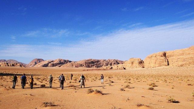 Jordanien Wanderer Trekking