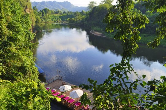 Blick vom Hintok River Camp am River Kwai_2