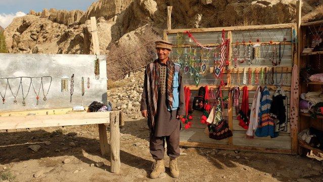 Verkäufer im Wakhan-Korridor