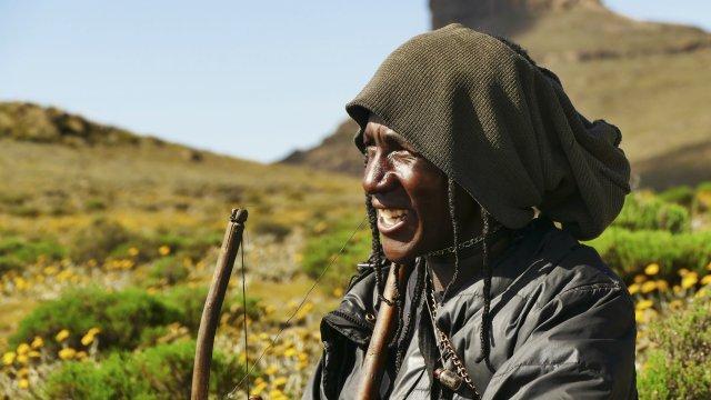 Lesotho Schaefer am Sani Pass