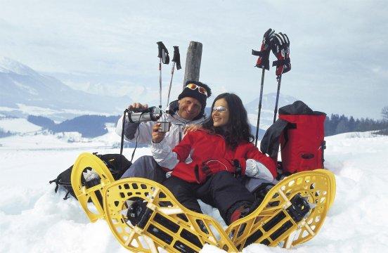 Schneeschuhwandern Werbung Himsl