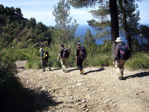 Wandergruppe auf Mallorca