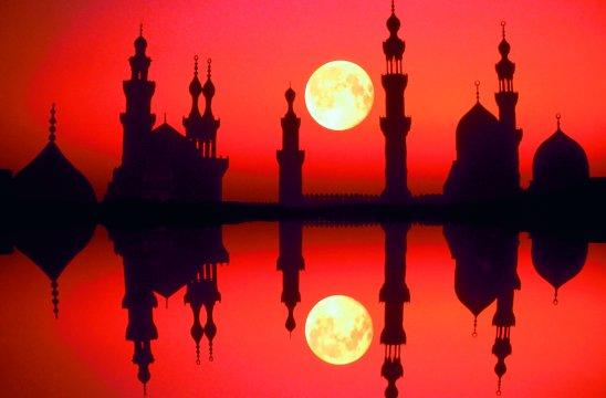 Ägypten - Moschee in Kairo bei Sonnenuntergang