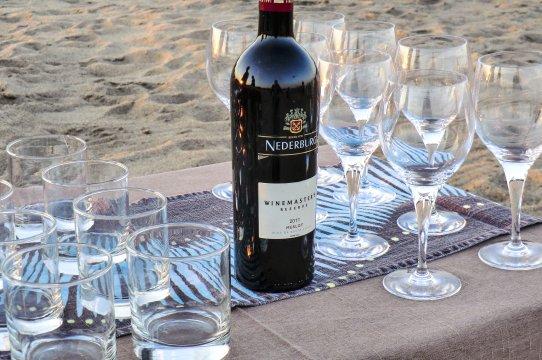 Wein beim Sundowner