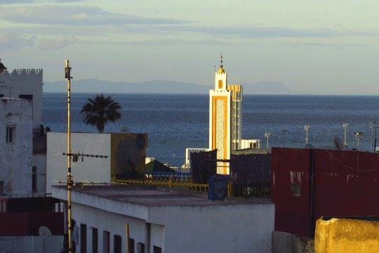 Blick nach Spanien vom Dar Souran Tanger