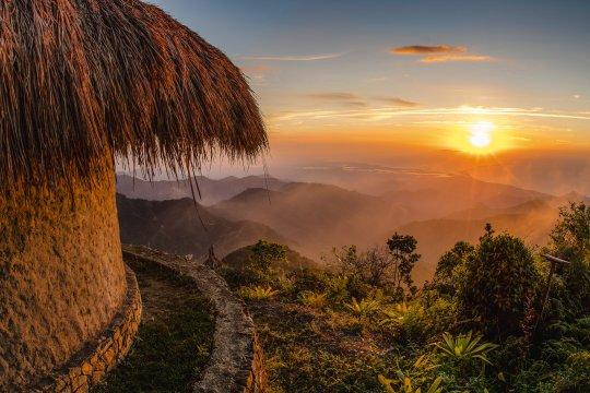 Aussicht von der Sierra Nevada of Santa Marta