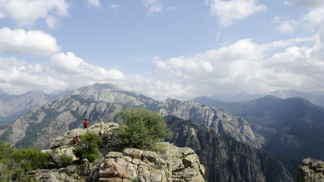 Ausblick übers Gebirge