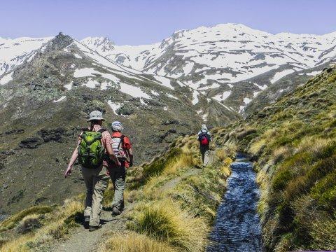Schneebedeckte Gipfel Sierra Nevdada