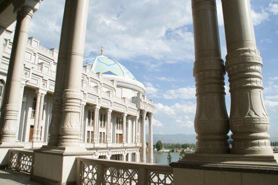Duschanbe mit Prunk Teehaus