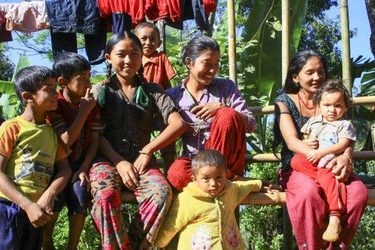 kinder nepal gruppe