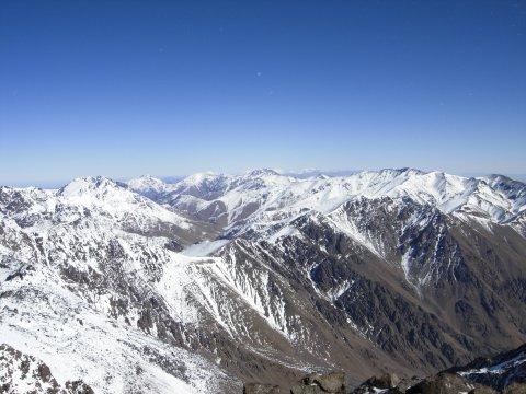 Aussicht vom Toubkal im Winter