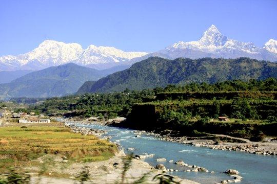 Annapurna und Machapuchare