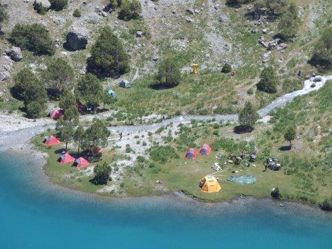Camp am Chukurak-See von oben