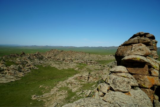 Felsformation in der Mongolei