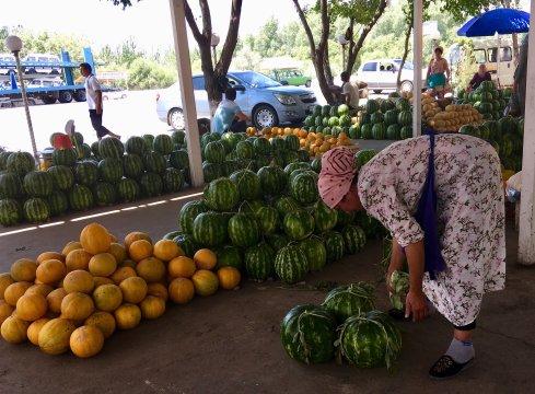 Melonenverkauf im Fergana-Tal