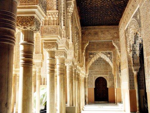 Granada Säulenhalle in der Alhambra