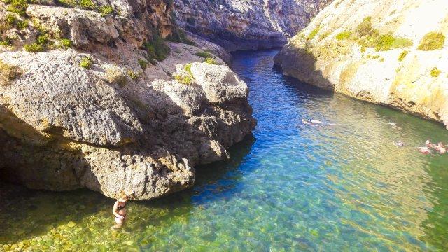 Gozo Schwimmen im Fjord