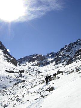 Aufstieg zur Neltner Hütte am Toubkal