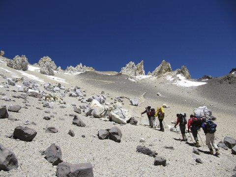 Aconcagua Gruppe Aufstieg 2