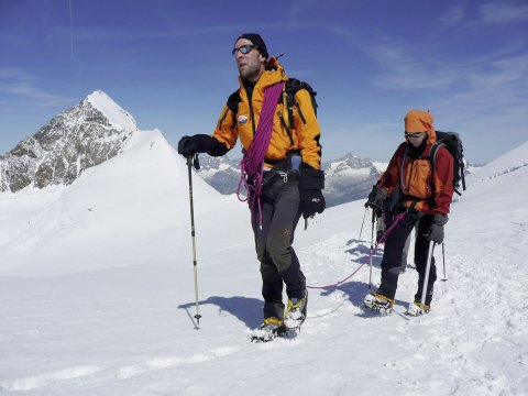 Bergführer und Gast
