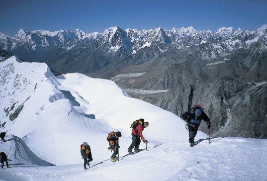 Trekkingruppe am Island Peak 2