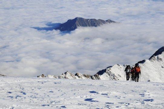 kurz vor dem Kasbek Gipfel 2