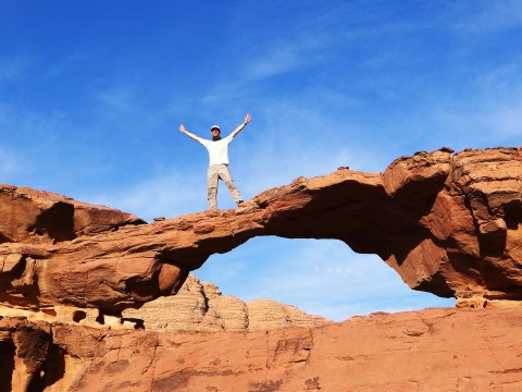 Felsbogen beim Wadi Rum Trekking_2