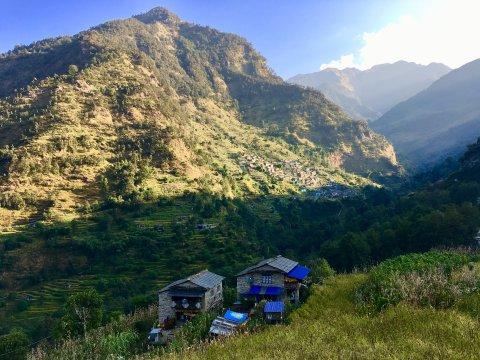 Abendstimmung auf dem Dhaulagiri-Trek