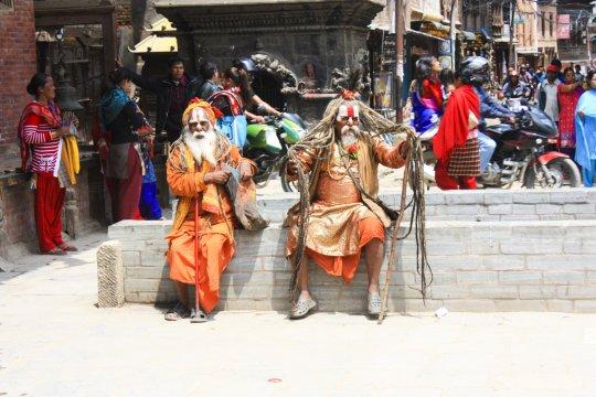 Einheimische Maenner Nepal