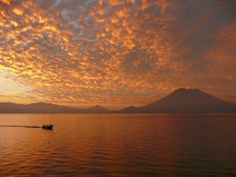 Sonnenuntergang am Atitlan See