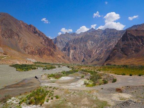 Blick auf das Pamir-Gebirge