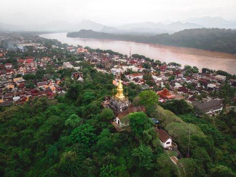 Luang Prabang Luftaufnahme