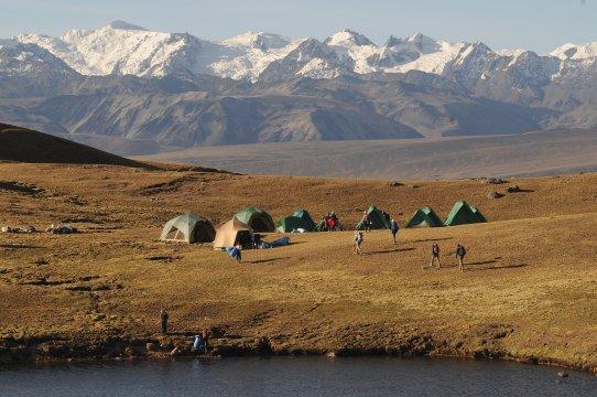 Trekking durch Anden Peru