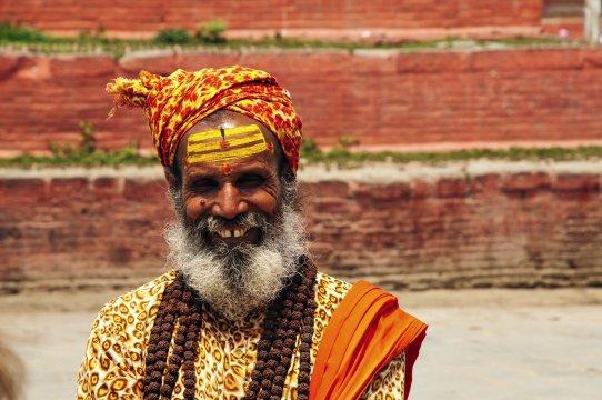 Lächelnder Sadhu
