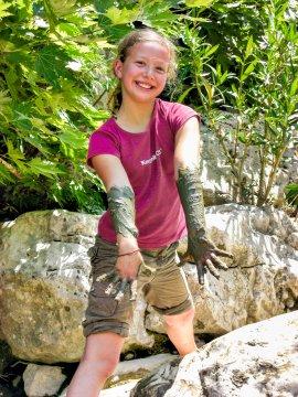 Schlammspass im Flussbett