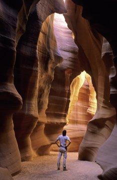 Wanderer im Antilope Canyon