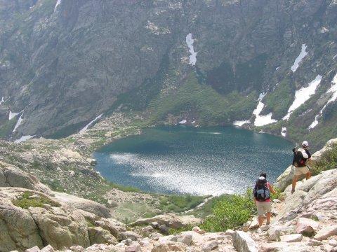 Blick auf den Lac de Melo GR 20 Nord