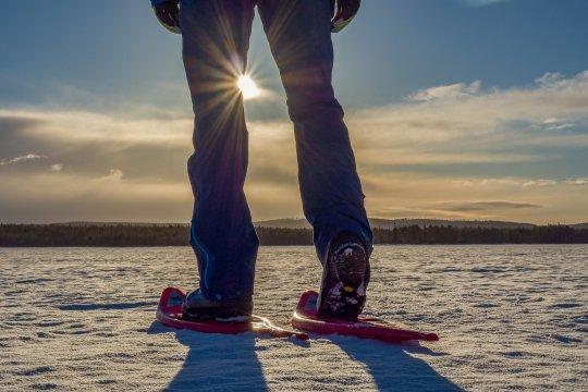 Schneeschuhwanderung am MI.EKO Basecamp