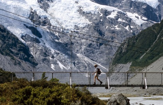 Hängebrücke in Neuseeland