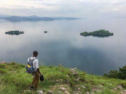 Ruanda-Napoleon-Island-im-Kivu-See