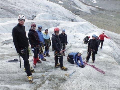 Ausbildung am Gletscher
