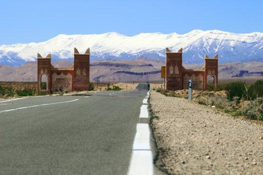 Blick auf das Mgoun Gebirge mit Tor_2