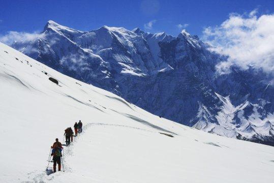 Blick zur Annapurna auf der Dhaulagiri-Runde
