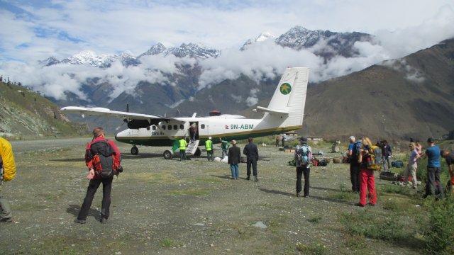 Nepal-Flugpiste-Juphal