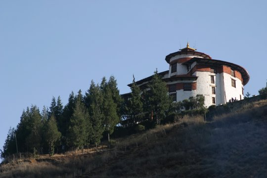 Nationalmuseum von Bhutan im Ta Dzong in Paro