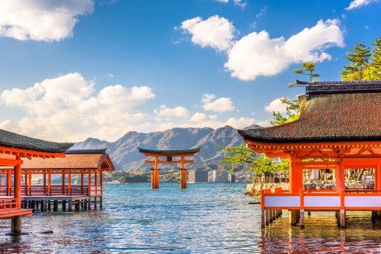 Schrein-Insel Miyajima in Hiroshima