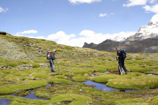 Trekker in der CordilleraBlanca